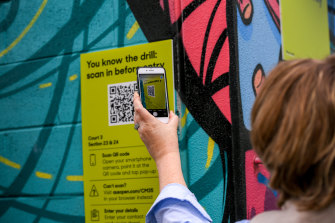 State apps currently used to scan QR codes will be updated to keep track of the users' vaccine status.