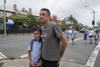 Bilal Tawil and son Zain Tawil. Mr Tawil is concerned about the level of preparation from education authorities.