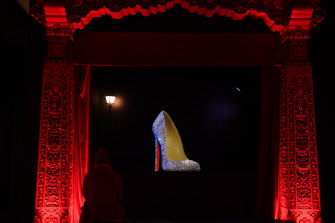 The star of the show: high heels at Christian Louboutin's Exhibition at the Palais De La Porte Doree.