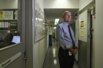 Professor Bill Rawlinson at the Prince of Wales Hospital in Randwick, Sydney.