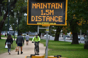 Melburnians must exercise in their local neighbourhood or risk a fine.