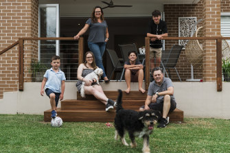 Mark and Heather Jones and their four children - Emily, 17, Daniel, 14, Toby, 11, and Ethan, 6 - love the lifestyle in Sydney and living close to the beach.