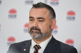 NSW Deputy Premier John Barilaro pictured last month.