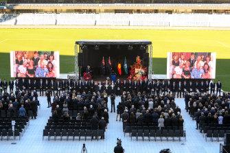 Frank Costa was farewelled at GMHBA Stadium on Wednesday.