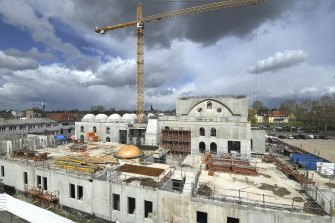 The construction site of The Eyyub Sultan Mosque in Strasbourg, eastern France.