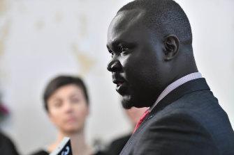 Sudanese community spokesman Maker Mayek.