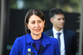 Premier Gladys Berejiklian urged even people with mild symptoms to get tested for COVID-19 if they live in at-risk areas.