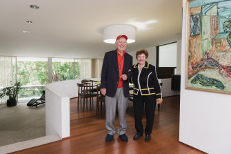 What would Harry do? Joseph and Aneta Weinreich in their Seidler-designed home.