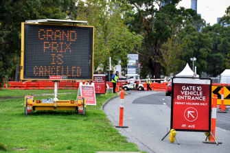The message that greeted fans at Albert  Park in March 2020 now applies for 2021 too.