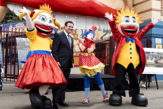 NSW Minister for Jobs, Investment, Tourism and Western Sydney Stuart Ayres at Luna Park on Tuesday.