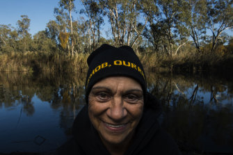 Monica Morgan, chief executive of the Yorta Yorta Nation Aboriginal Corporation, at the Moira Lakes that sit within the Barmah-Millewa forests.