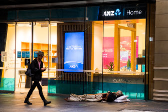 Many people who were given temporary accommodation in hotels and motels are back sleeping rough.