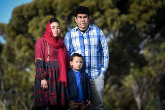 Neamat Rahimi, with wife Fouzia and son Mirwais.