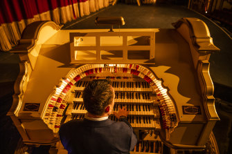 The Wurlitzer organ after a decade-long restoration at the State Theatre.