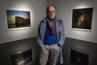 Photographer Bill Henson with a show of his works at Tolarno Galleries.
