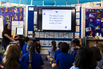 """Oatley Public School uses songs to help teach reading. Assistant principal Lauren Edwards says they """"really stick in your brain""""."""