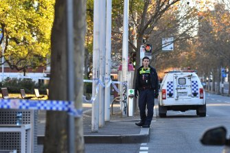 Part of Lygon Street, Carlton, was closed on Saturday morning while police investigated an early morning shooting.