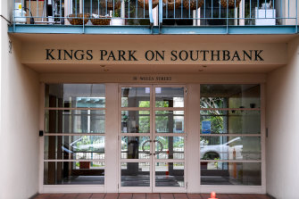 The Kings Park apartment complex in Southbank.