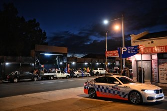 Police were also at the scene of the protest in Parramatta.