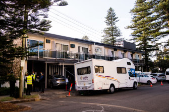 Residents have been moved from the Manly Waves hotel to nearby accommodation.