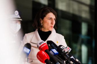 Testing times: Premier Gladys Berejiklian faced difficult questions.