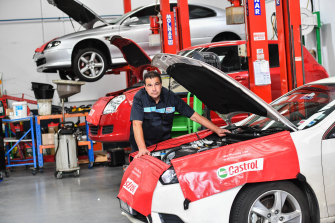 Luke Cefai, who owns Bosch Car Service in Ringwood, says it is taking him up to seven weeks to source some new parts.