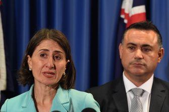 NSW Premier Gladys Berejiklian and Deputy Premier John Barilaro haven't always seen eye to eye.