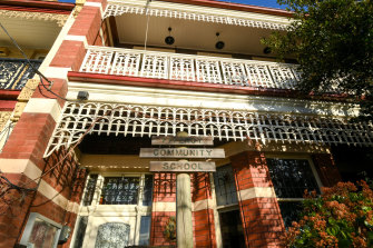 30 students and staff had tested positive at the Fitzroy Community School in Brunswick Street, Fitzroy North.