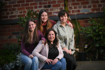 Tamara How with her daughters, Jasmine, 14, Luciana, 18, and Sienna, 15.