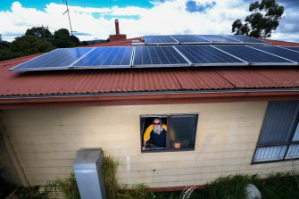 Maxwell Johansen paid $10,000 to have solar panels installed on his roof. The door to door salesperson told the pensioner he would never have to pay another electricity bill but the panels are only saving him $2.50 a week.