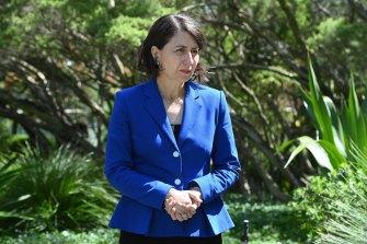 Now for the next mountain ... Premier Gladys Berejiklian on Wednesday.