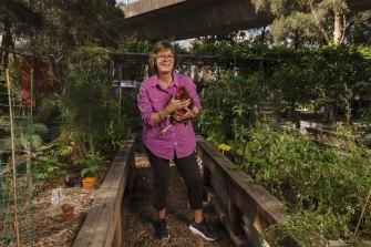 Georgina Bathurst in the Bourke Street garden.