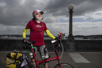 Adrian Boss, cyclist concerned the construction of a cycleway along Rose Bay promenade may be shelved.