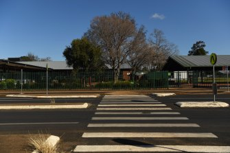 Dubbo West Public School this afternoon.