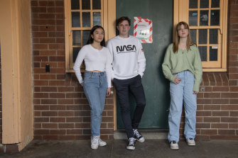 Year 12 students Tara Thai, James Baldock and Flora Tucker say they are frustrated about COVID-19 disrupting their final term, but they still have hope it can be salvaged.