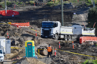"""""""Estimates of additional costs to complete the project differ among project parties and remain uncertain,"""" Transurban said in financial results."""