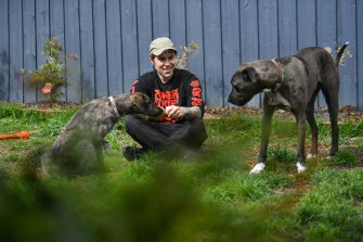 Marcus Schadendorff and his two dogs Duke and Sunny have enjoyed their space.