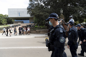 University of Sydney staff have questioned the heavy-handed police response to protests.