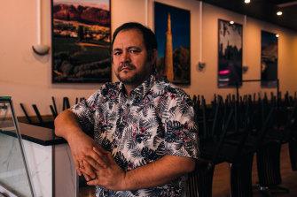 Sayed Hussainizada an Australian Hazara, in his family restaurant in Sydney's Campbelltown.