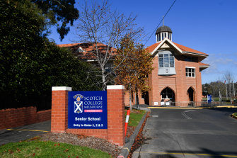 Scotch College is freezing fees for 2021.