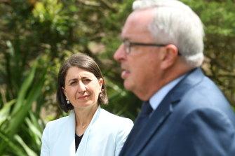 NSW Health Minister Brad Hazzard and Premier Gladys Berejiklian provide a coronavirus update this week.