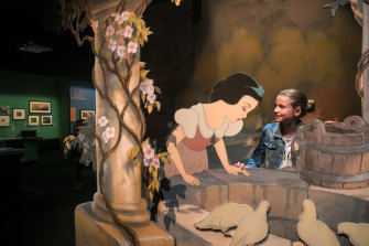 Mathew's daughter Alice getting to know Snow White a little better.