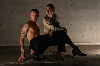 Choreographer Alice Topp and dancer Izaac Carroll who has joined her new company Project Animo.