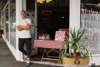 Pivoting back to takeaway: Dylan Eisenhut, owner of Pocket Pizza in Manly.