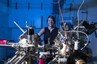"""Professor Michelle Simmons at her lab in UNSW. """"I live in a bubble."""""""