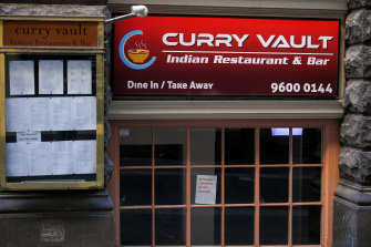 The Curry Vault restaurant in Bank Place was named an exposure site after a Wollert man who contracted coronavirus dined there on Friday night.