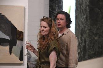 Day with co-star Miranda Otto in <i>The Unusual Suspects</i>.