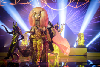A celebrity performs in disguise on Network Ten's hit reality show The Masked Singer.