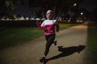 Tessa Gould, a member of Run Like A Girl in Kensington, runs four times a week through winter.