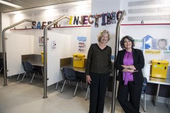 From left: Founding medical director Ingrid van Beek and her successor Marianne Jauncey.